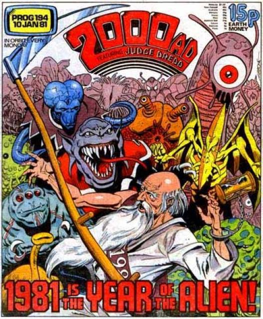 Cover of 2000AD Prog 194, by Dave Gibbons